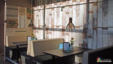 Tapeten im Holzdesign