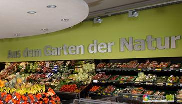 Farbkonzept für Supermarkt