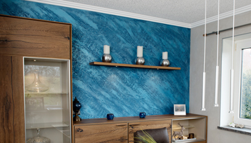 individuelle Wandgestaltung mit Istinto in Blau